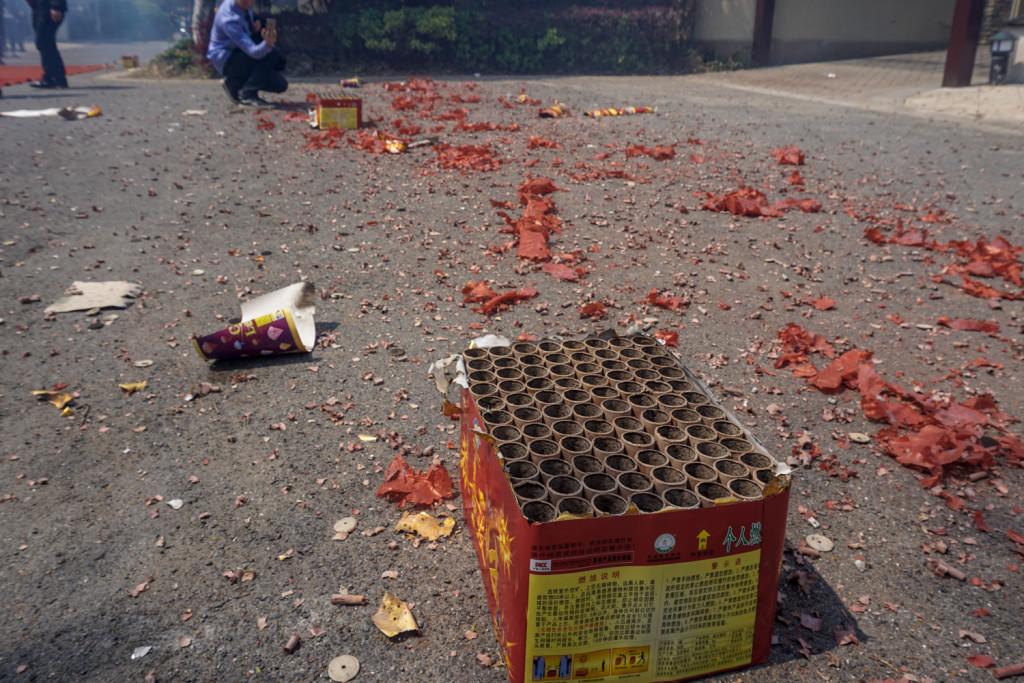 Fireworks aftermath