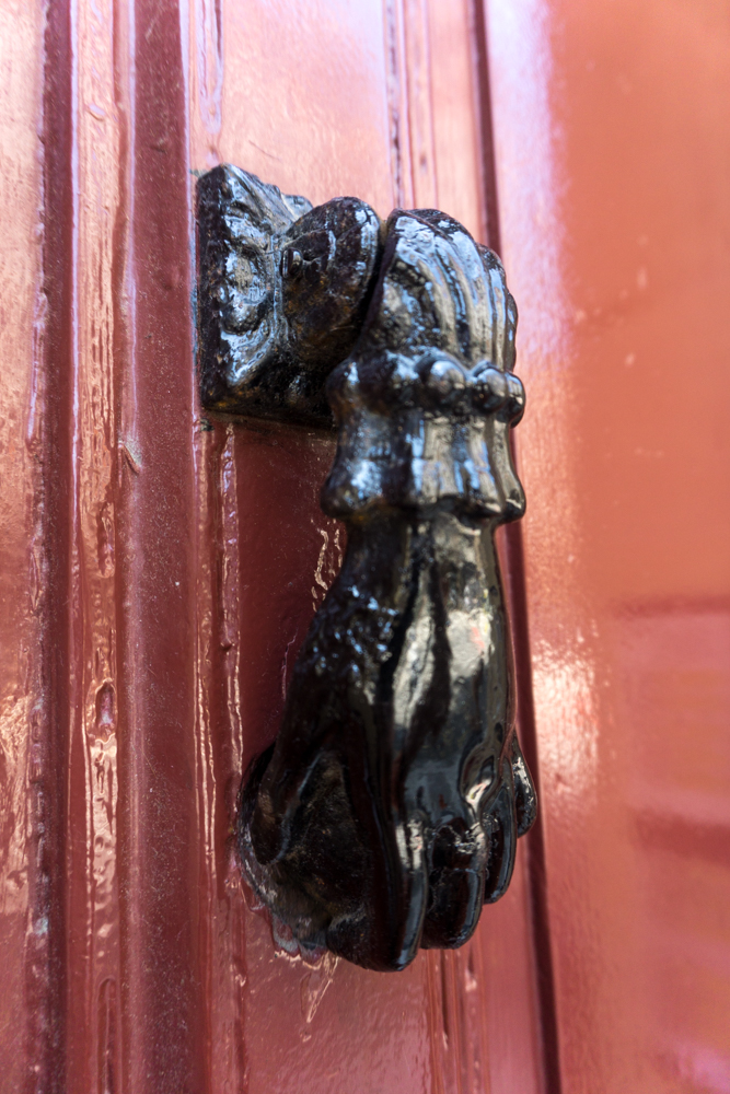 Our Airbnb had a great looking knocker on the front door.
